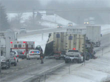 Semi Crash Scene